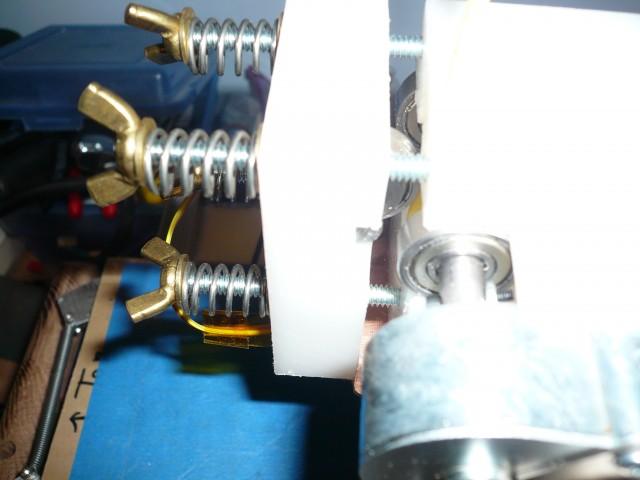 motor shaft, gripper shaft mounting